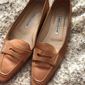 Gently used, vintage Manolo Blanhik loafers